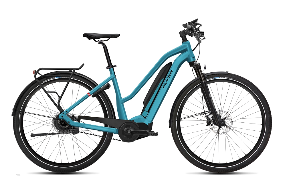 Flyer E-Bike Upstreet 5 Trapezrahmen glacier blue