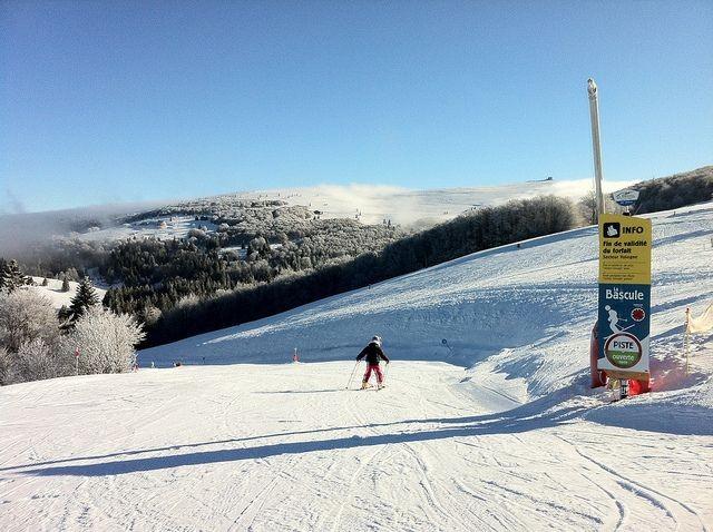 Piste de ski de la station de La Bresse Hohneck