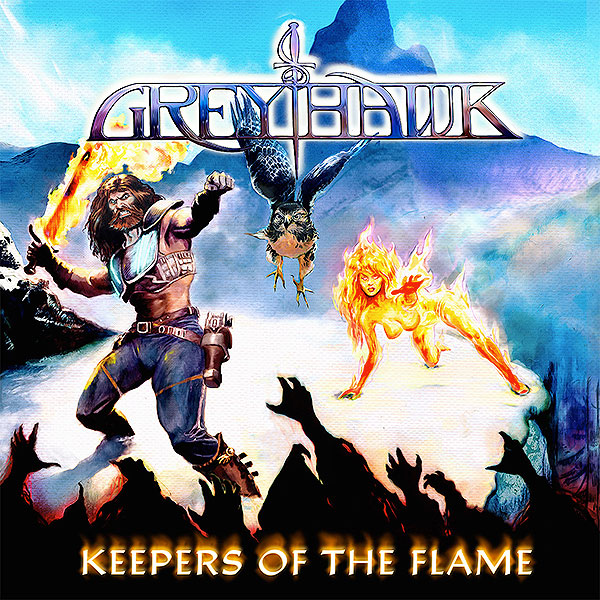 Epic Power, Heavy Metal, GREYHAWK,, Fighter Records, cover, tracklist, Keepers of the Flame, rockers and other animals, news