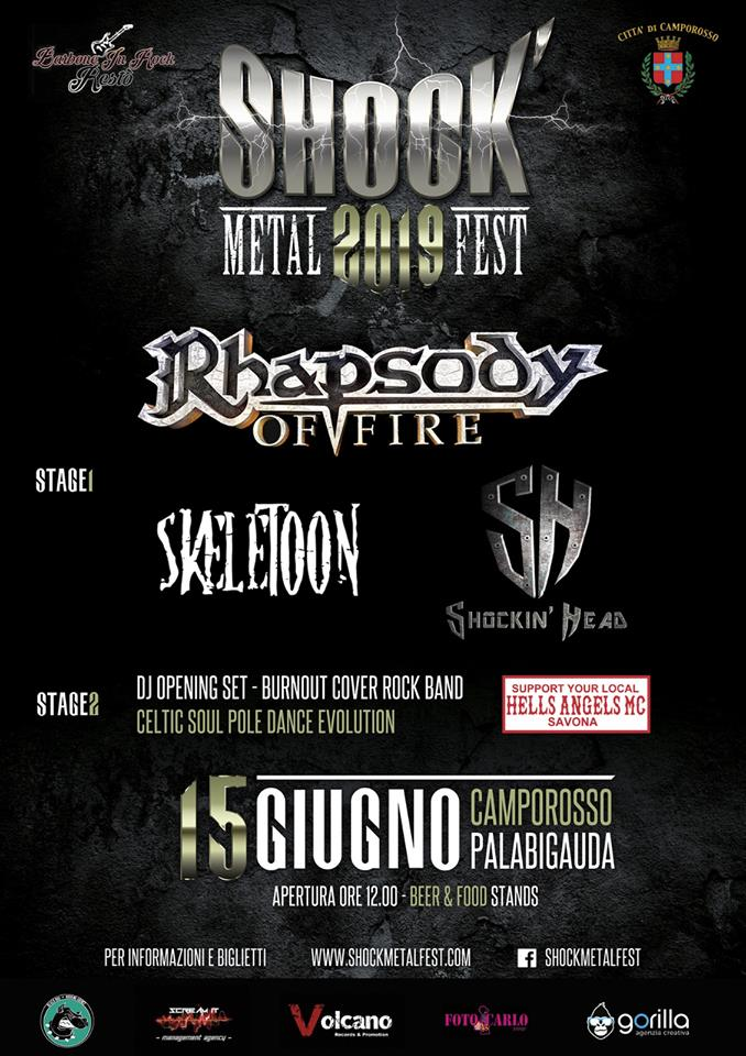 Shock Metal Fest,  Rhapsody Of Fire,  Skeletoon, Volcano Records, Shockin Head, Imperia, Rockers And Other Animals, Rock News, Rock Magazine, Rock Webzine, rock news, sleaze rock, glam rock, hair metal,