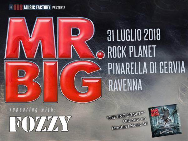 mr big  data unica  rock planet  pinarella di cervia