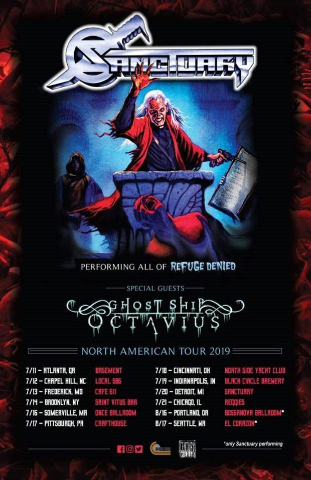 Sanctuary, Europe Festival Shows, New Video, North American tour, Refuge Denied, Ghost Ship Octavius,News Rockers And Other Animals, Rock News, Rock Magazine, Century Media Records, Rock Webzine, rock news, sleaze rock, glam rock, hair metal, heavy metal