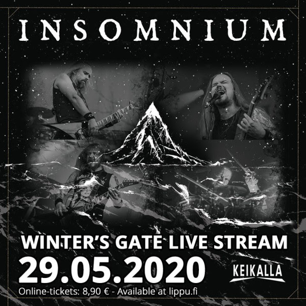 INSOMNIUM,  WINTER'S GATE, live stream, show, rockers and other animals magazine, news