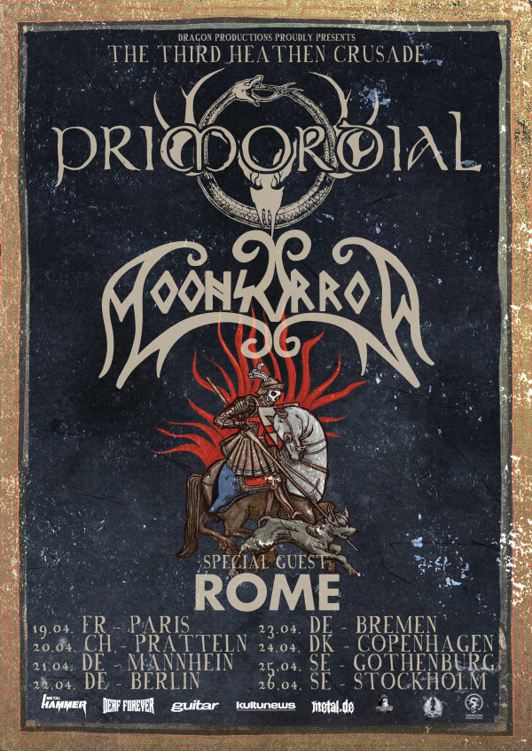 MOONSORROW, Heathen Crusade With Primordial, rockers and other animals, news, century media records, Moonsorrow, ,