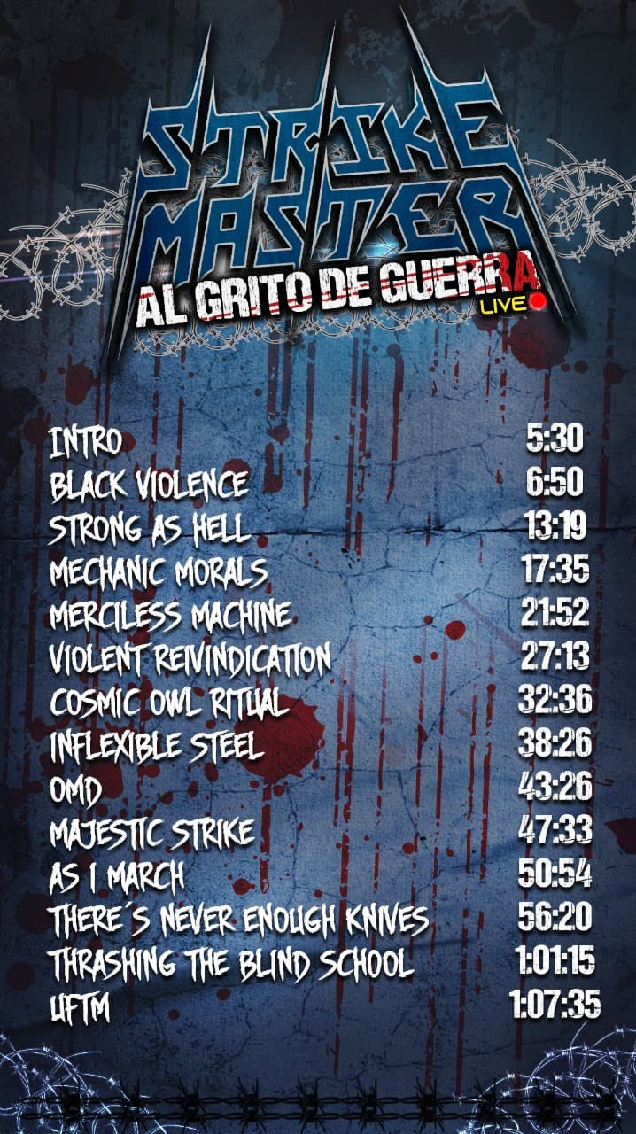 Mexican Thrash Masters Strike Master Announce Live Stream Concert rockers and other animals