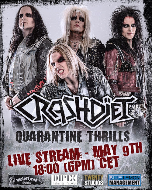 Crashdïet, live streaming, show, sleazy, rockers and other animals, news