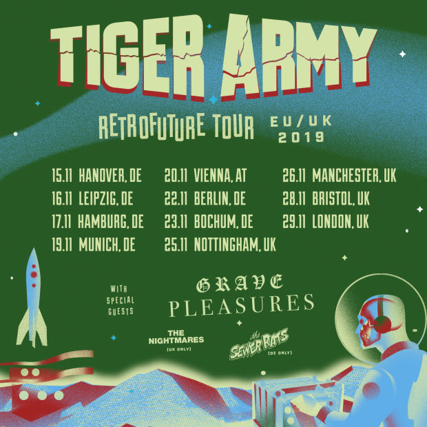 GRAVE PLEASURES, Violence Of Night, Doomsday Roadburn, Live At Roadburn Festival 2018, tour,  Tiger Army , rockers and other animals, news