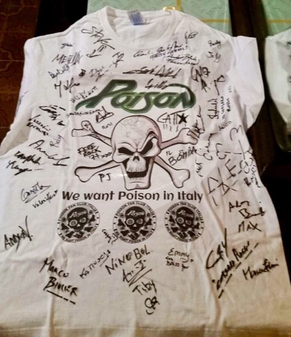 We want  Poison  in Italy, POISON Fan club Italia, Bret Michaels, Motley Ink, Joe Sixx, Milano