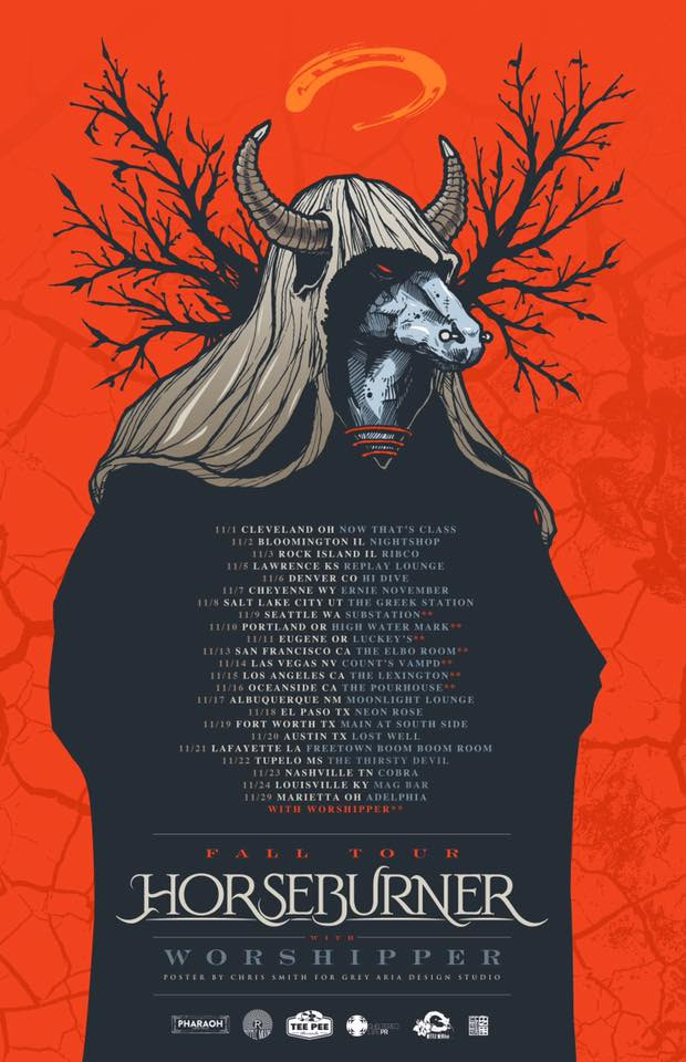 HORSEBURNER, U.S. Fall Tour, The Thief, Album, Ripple Music, Worshipper, Rockers And Other Animals, news, Progressive Metal, Post-Metal