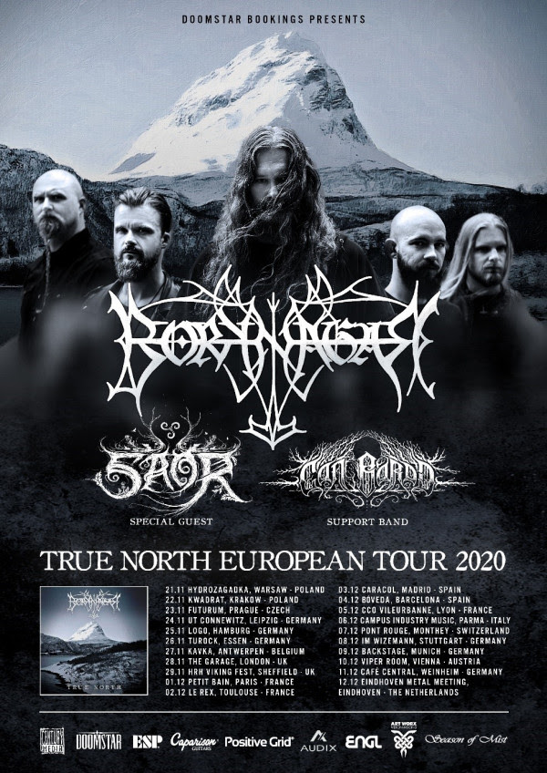 BORKNAGAR , True North, European Tour, news, rockers and other animals, Black Metal, Century Media Records