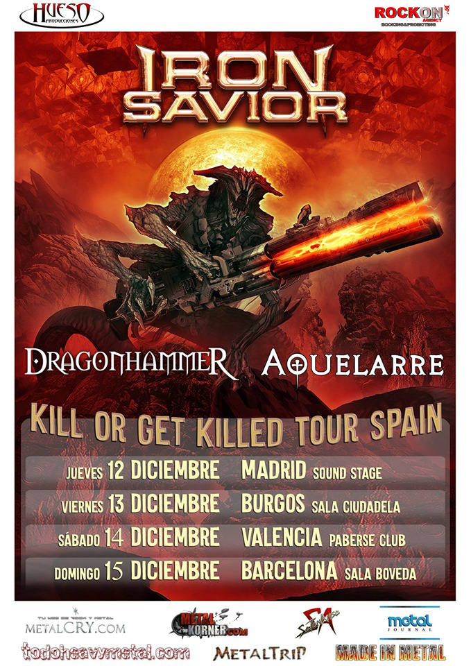 DragonhammeR Spanish tour with Iron Savior, rockersa and other animals