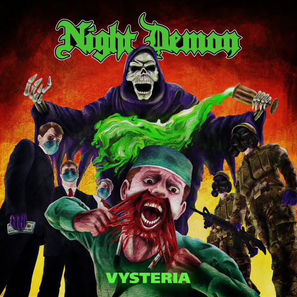 "Night Demon Release 7'' Single ""Vysteria"" worldwide release via Century Media Records, rockers and other animals"