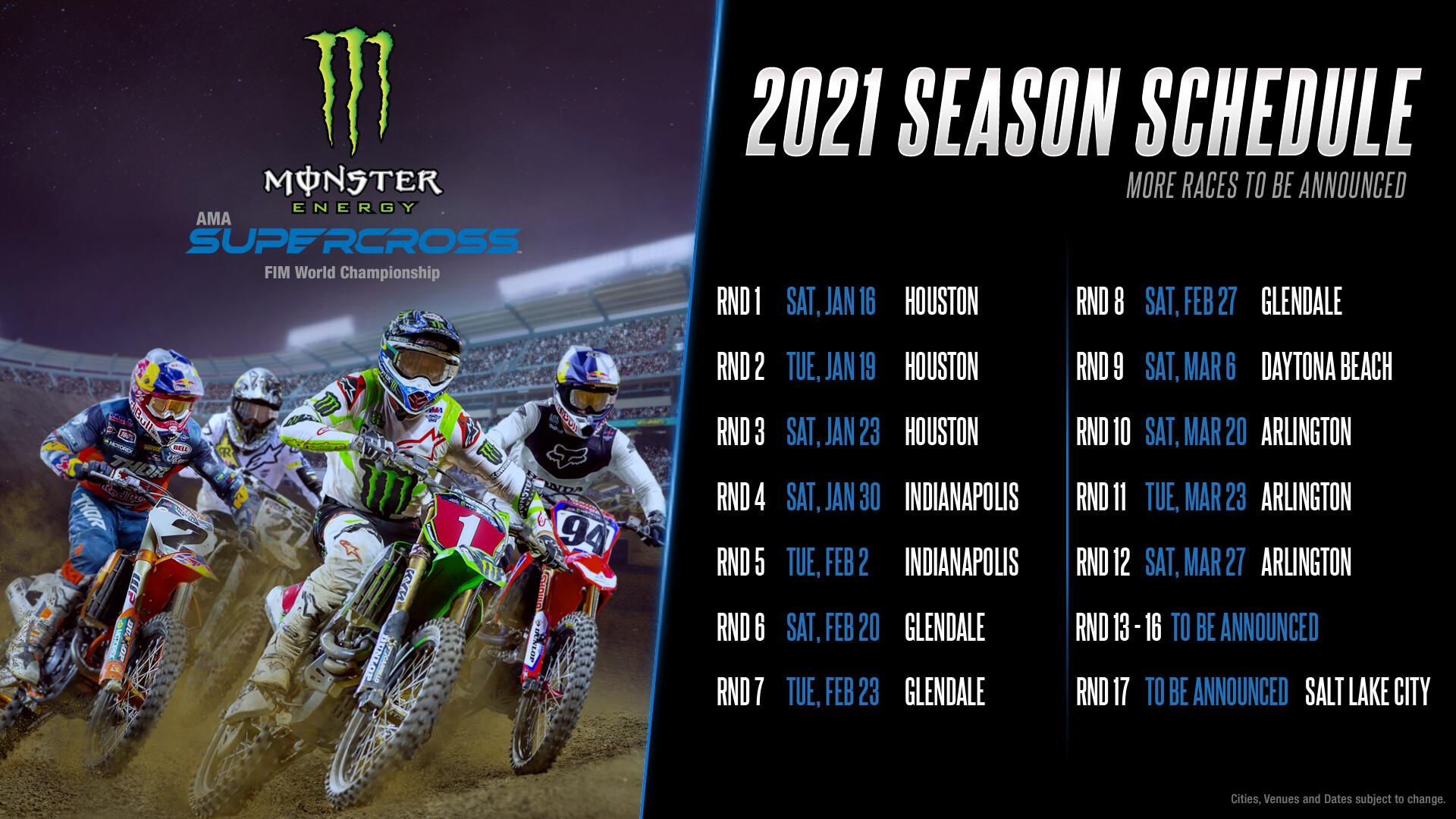 Calendario 2021 Supercross.