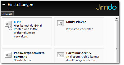Screenshot: Einstellungen > E-Mail