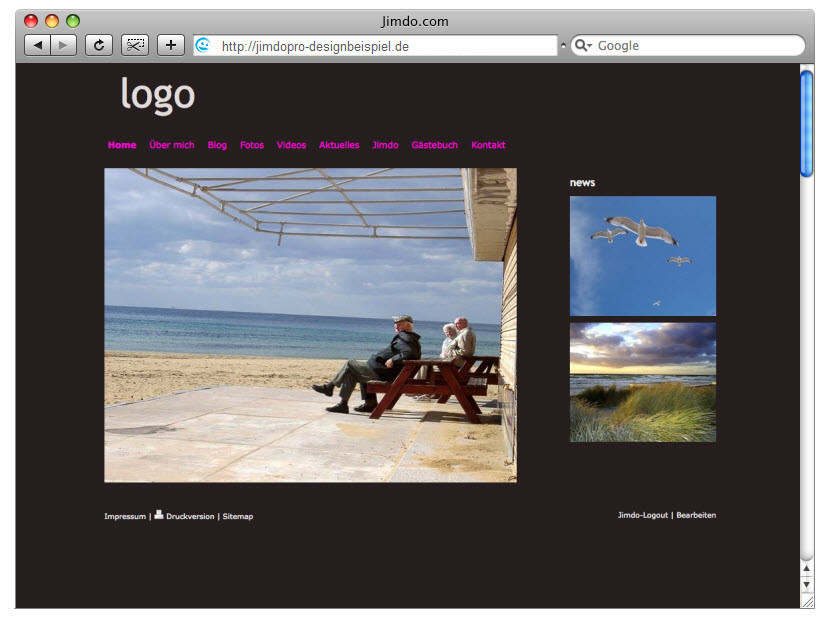 Design-Beispiel, JimdoPro #2