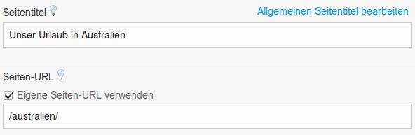 Seiten-URL anpassen