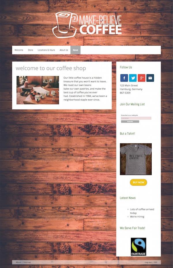Das San Francisco Design - hier im Beispiel: wenig Inhalte und eine vollgestopfte Seitenleiste auf der rechten Seite - das harmoniert einfach nicht