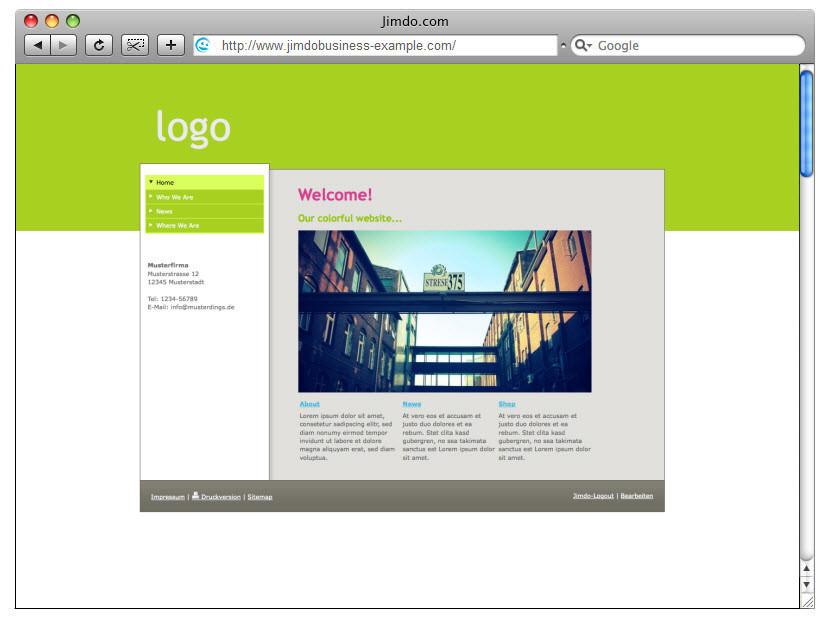 Design-Beispiel, JimdoBusiness #3