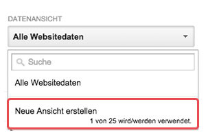 datenansicht google analytics