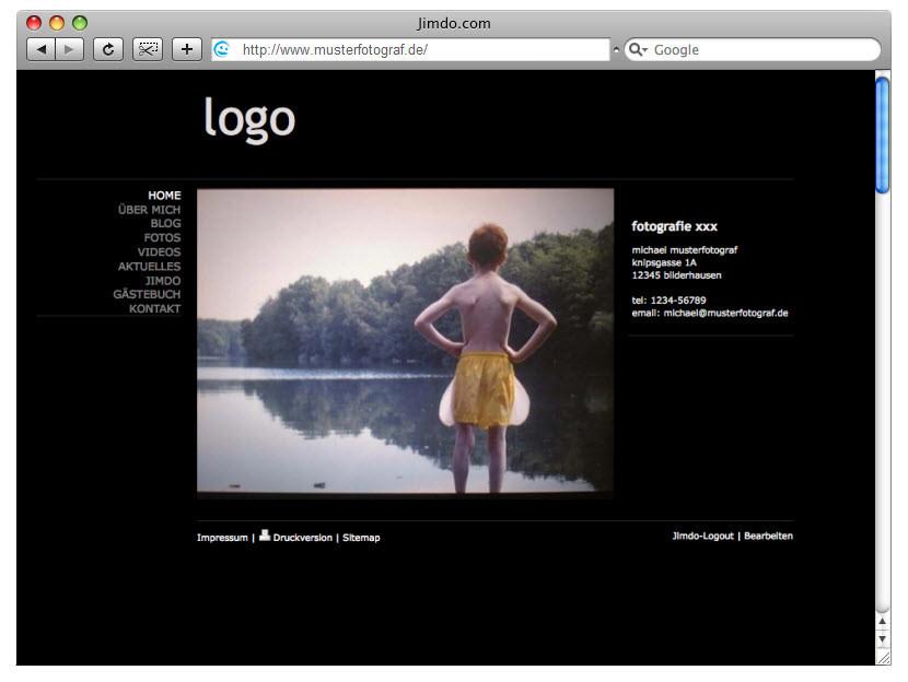 Design-Beispiel, JimdoFree #1