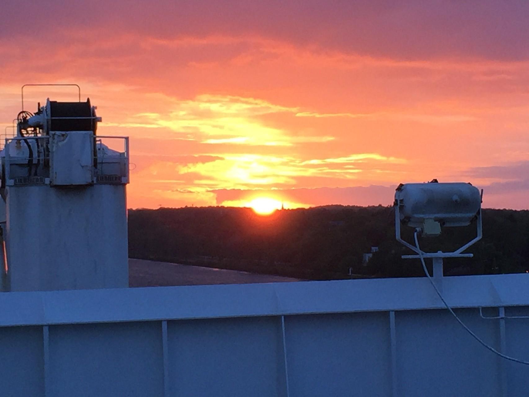 ... bei Sonnenuntergang