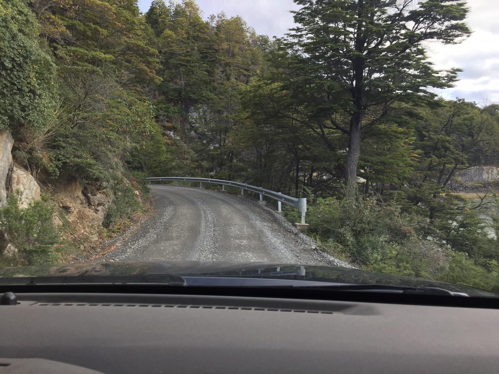 Richtung Süden auf den ersten Kilometern