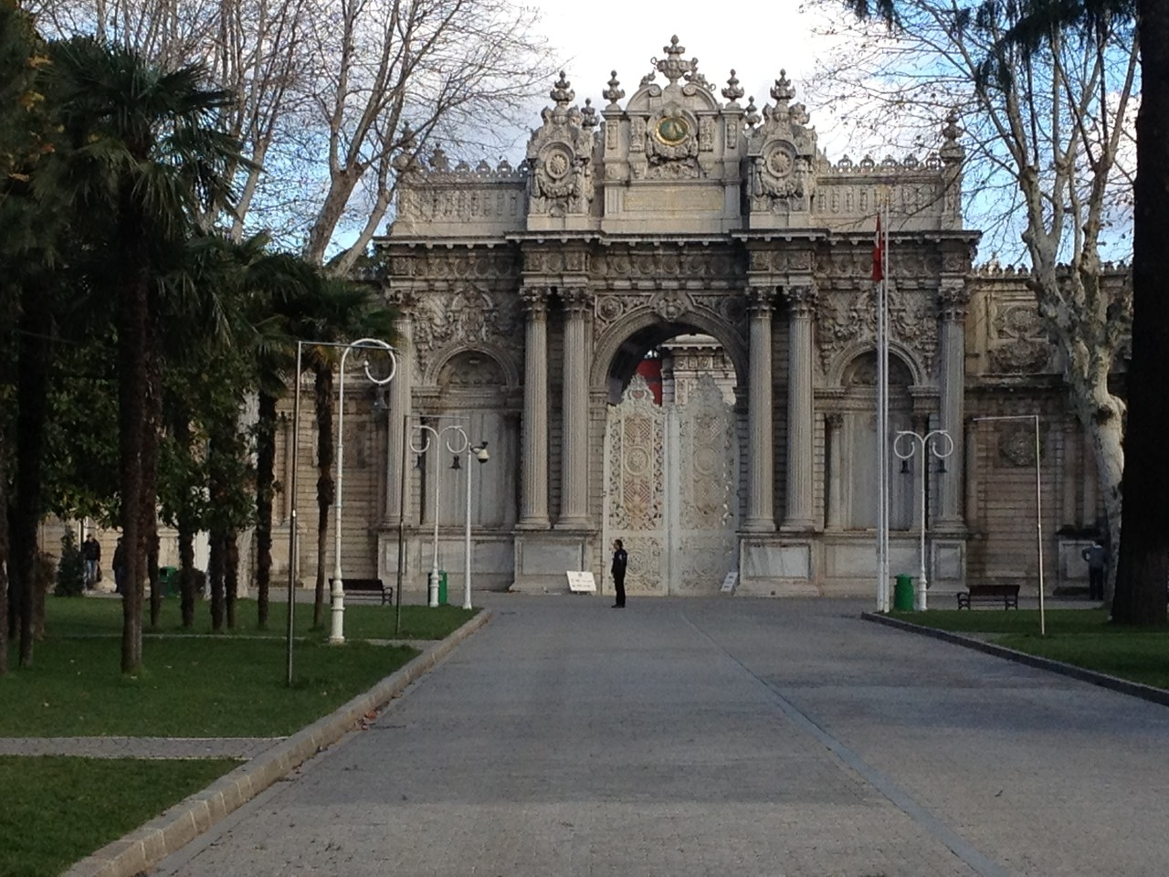 Eingang zum Domapahce-Palast, EIngang