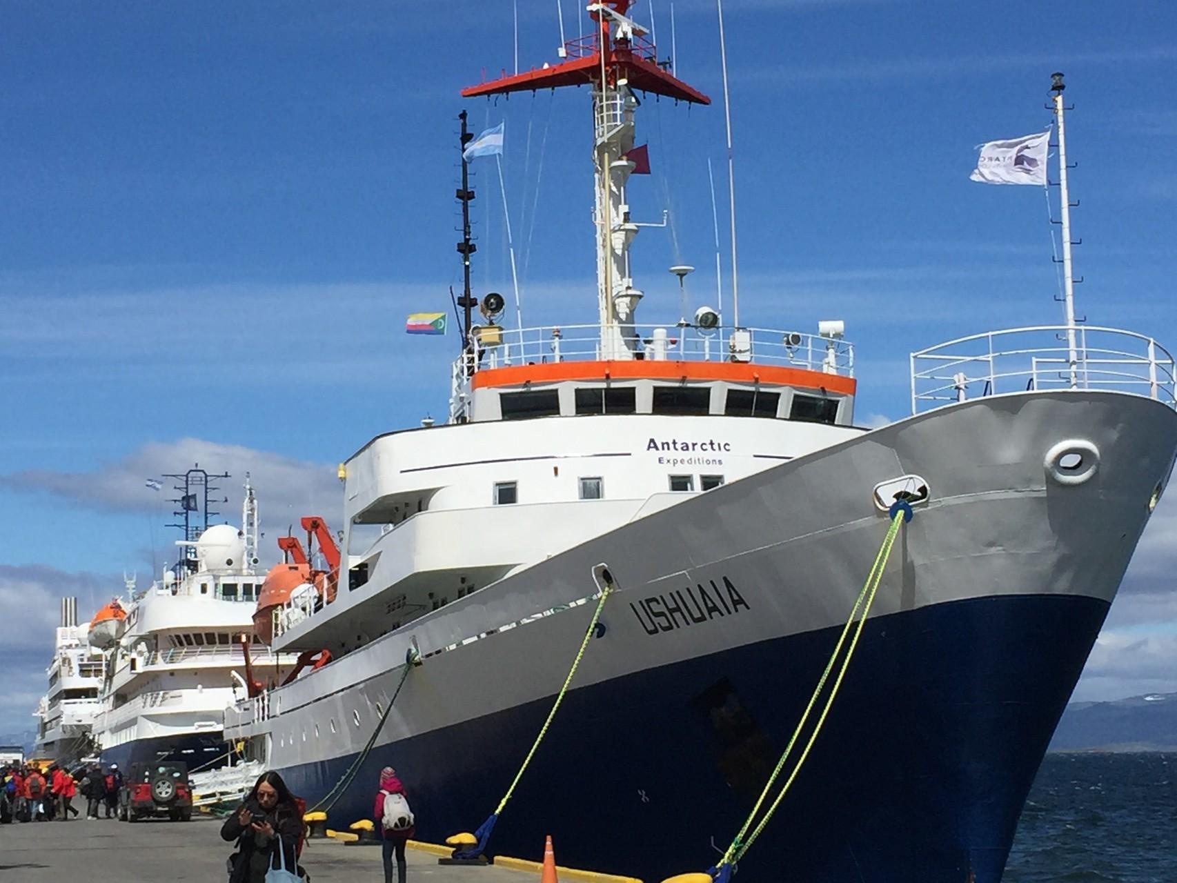 Ushuaia am Hafen