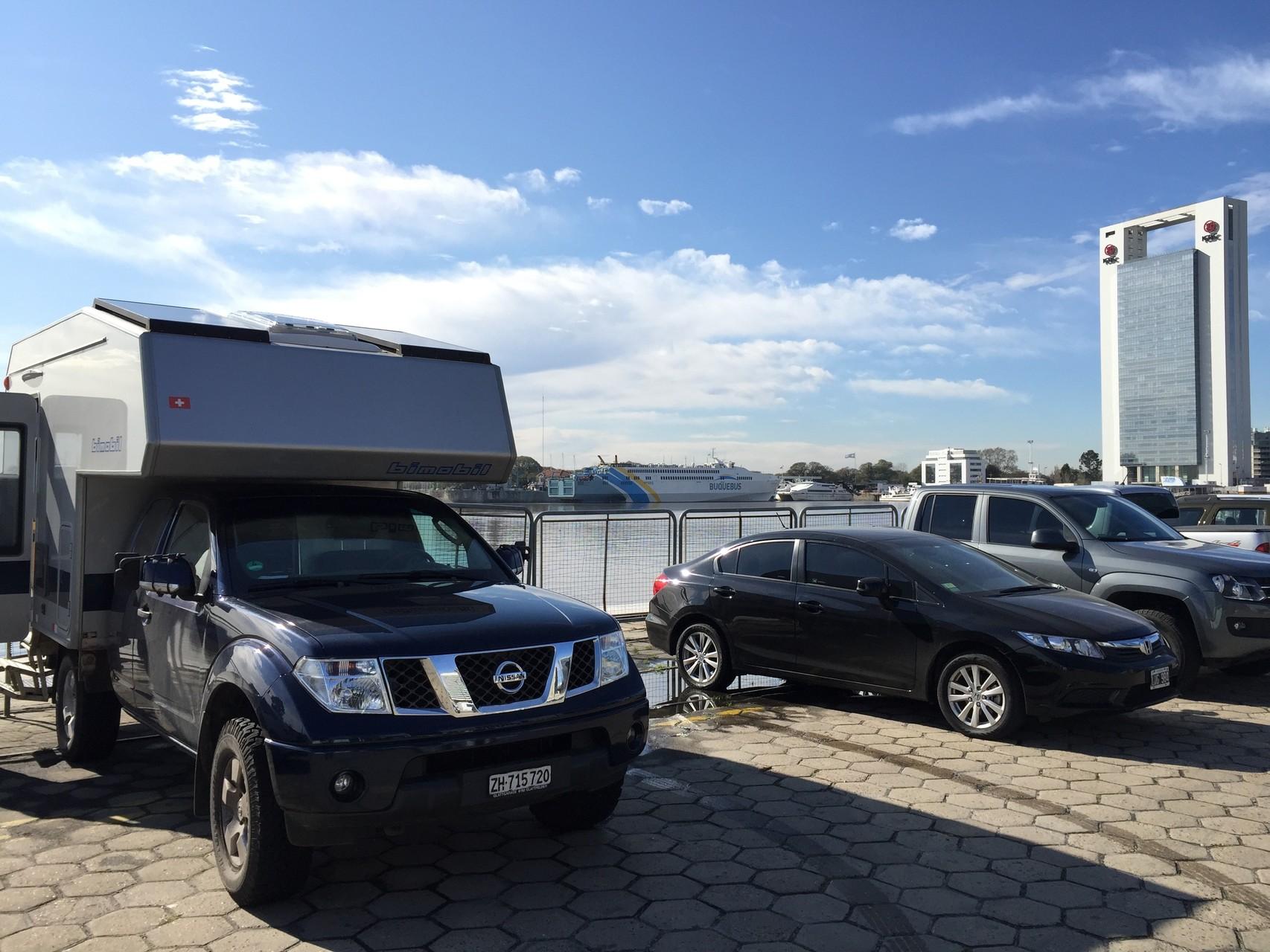 Unser Stellplatz in Buones Aires gegen das Meer......