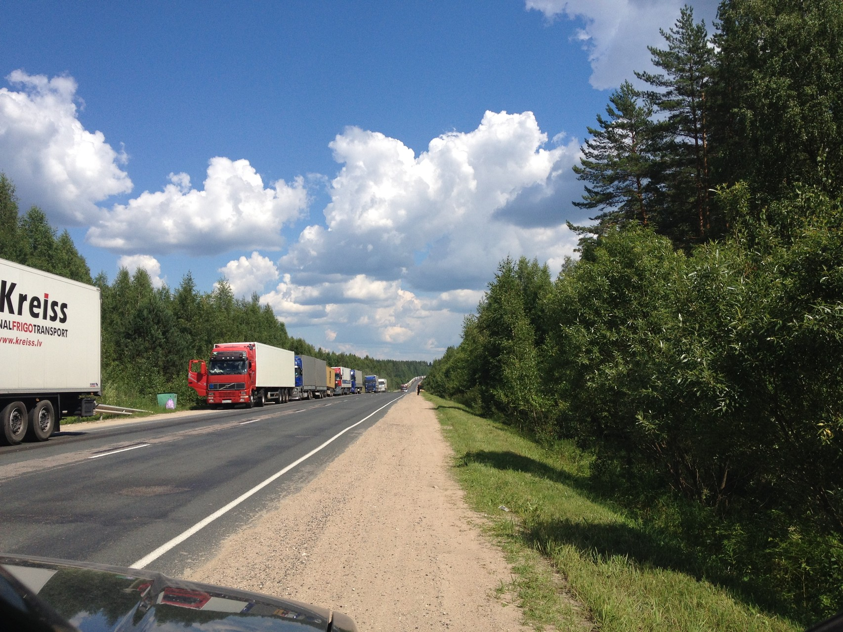 Görlitz, Lastwagenkolonne ohne Ende