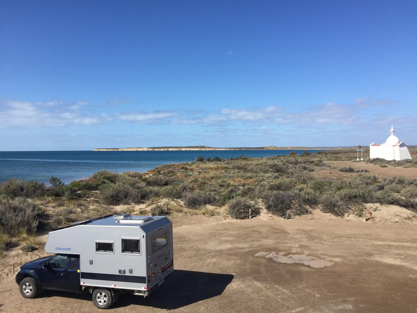 an der Beach mit Sicht zur Vogelinsel