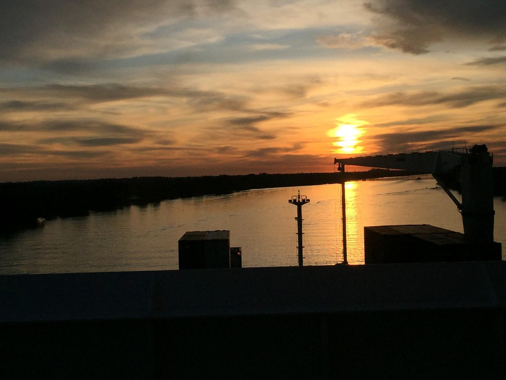 Beim herrlichem Sonnenuntergang
