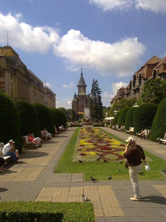 Gartenanlage in Timisoara