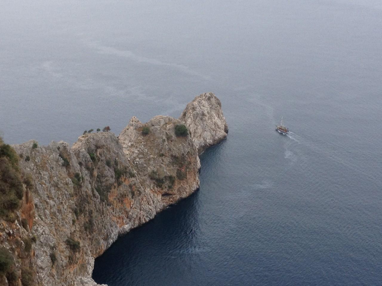 Felsvorsprung bei der Festung Alanja