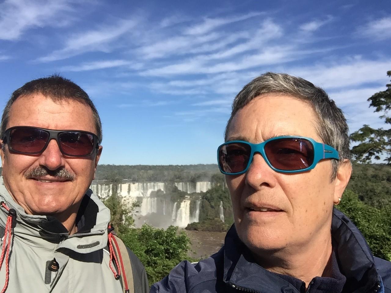 Wir an den Iguazufällen!