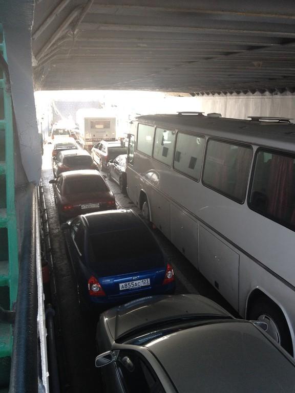 Von der Ukraine mit der Fähre nach Russland