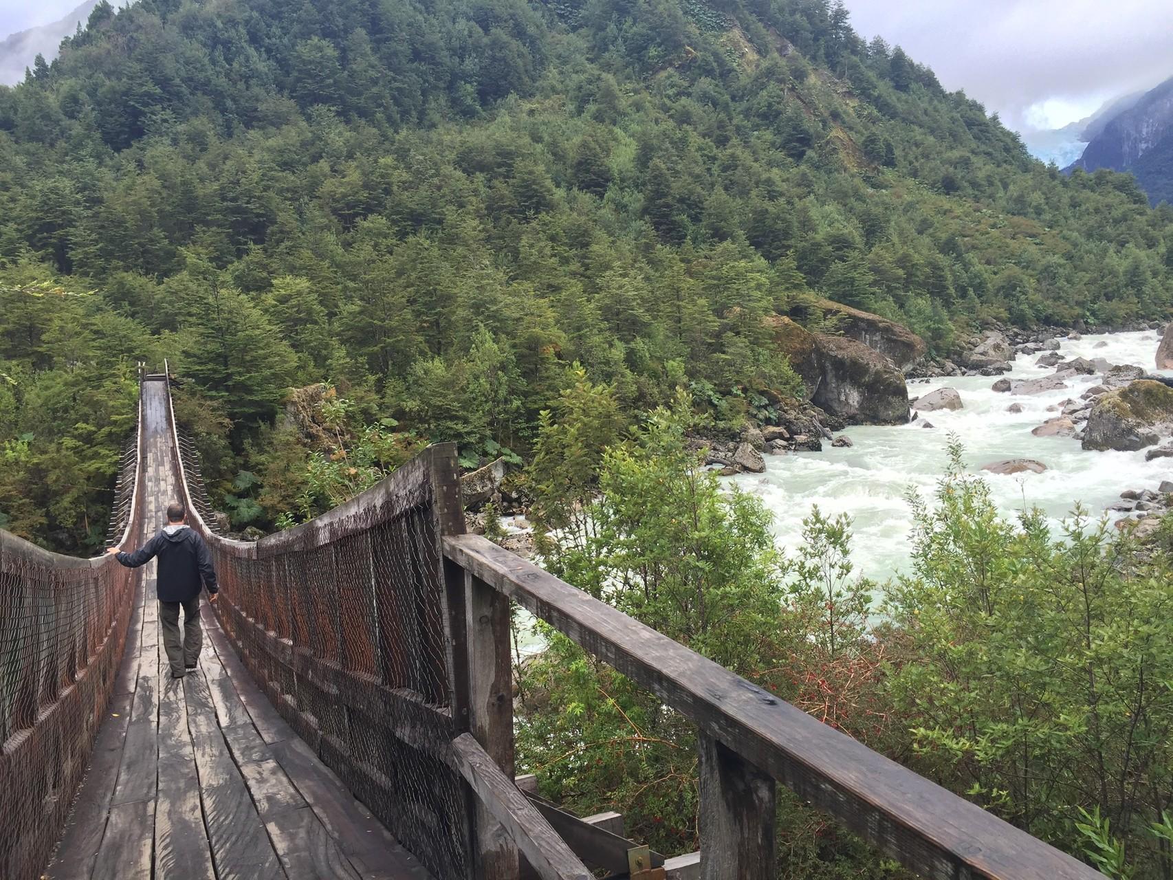 Auf der Wanderung zum hängenden Gletscher