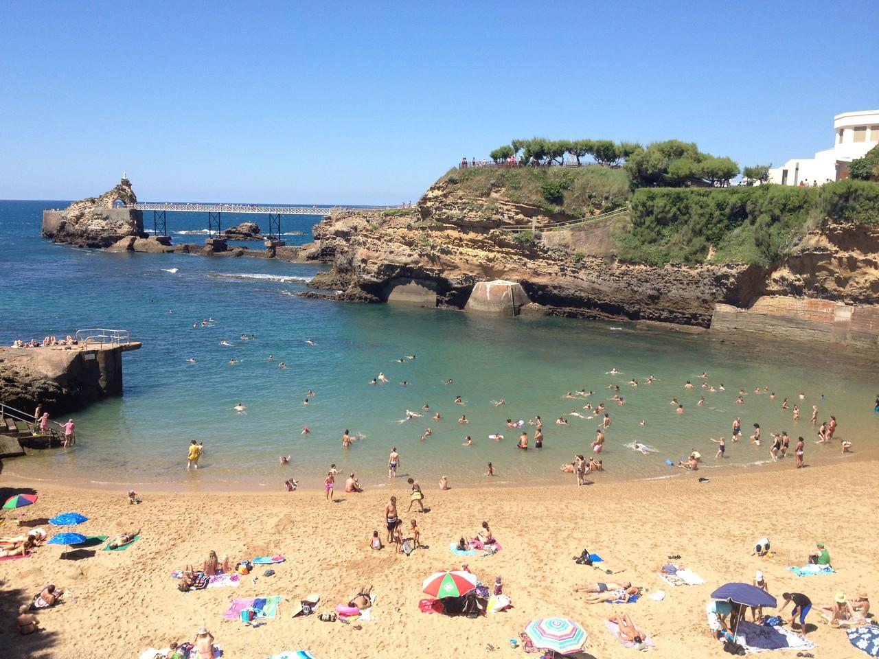 Strand in Biarritz