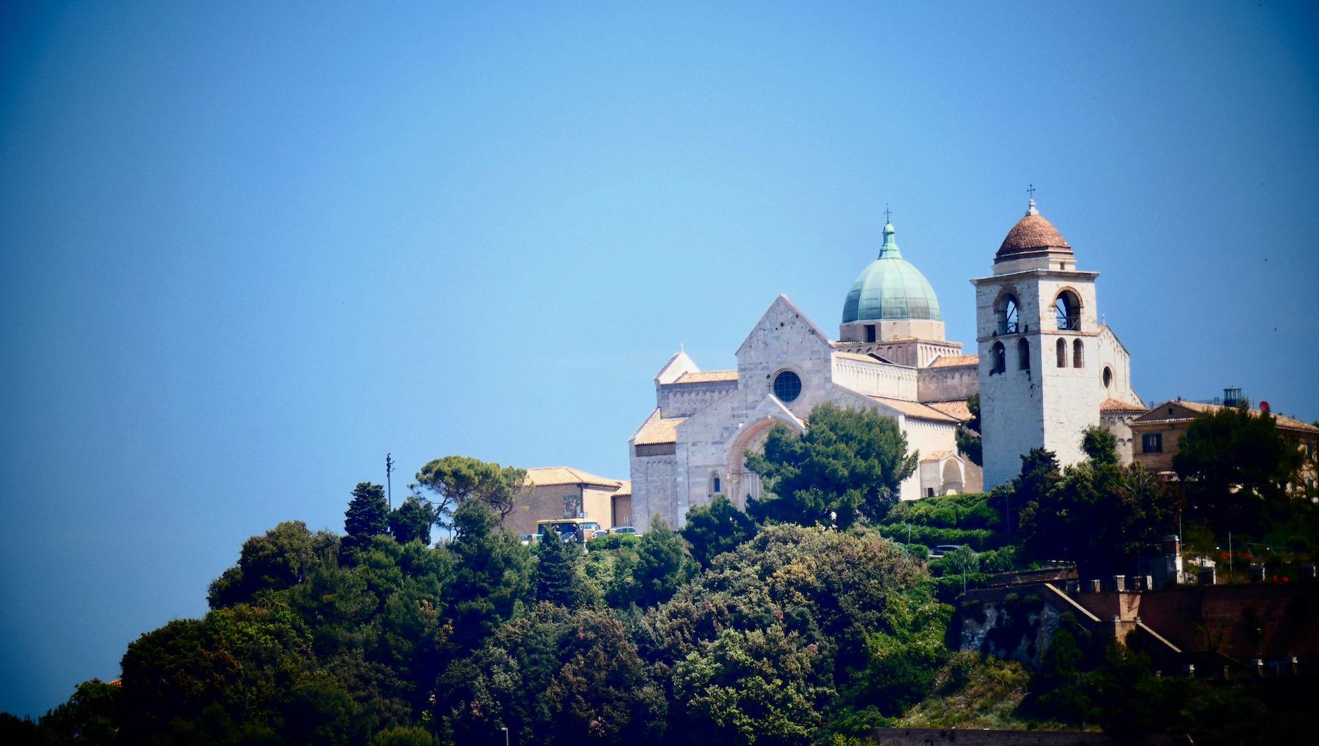 Ancona von der Fähre aus