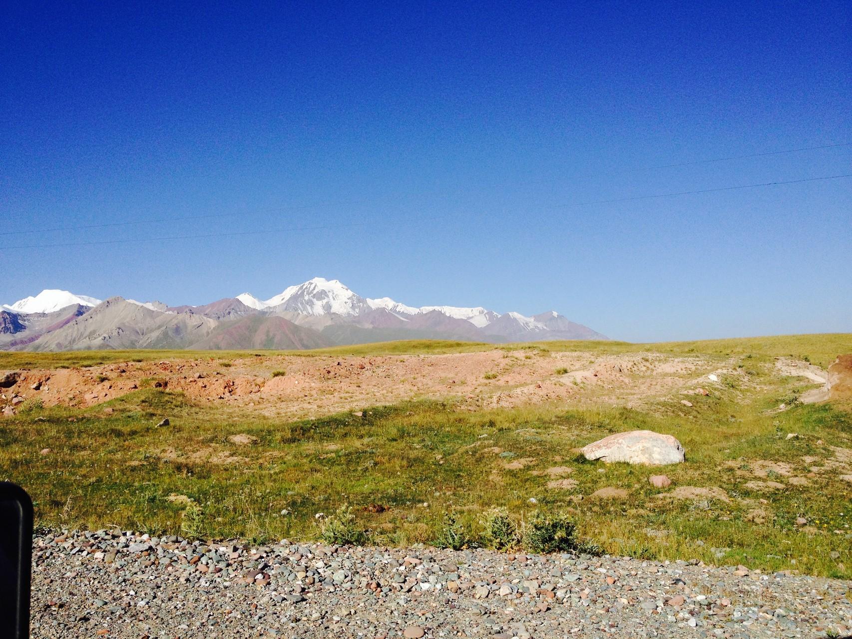Auf der Hochebene Richtung Tadschikistan