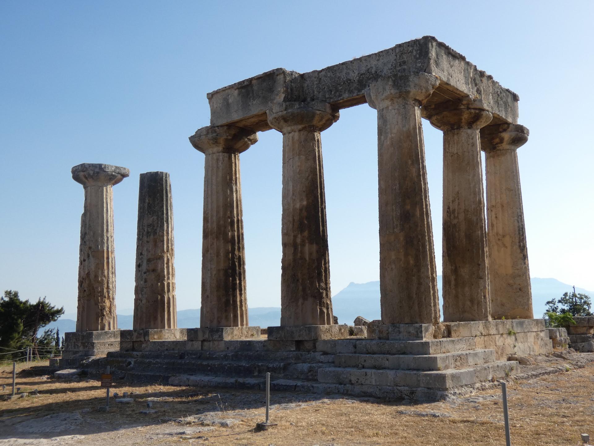 die Ausgrabungen im alten Korinth