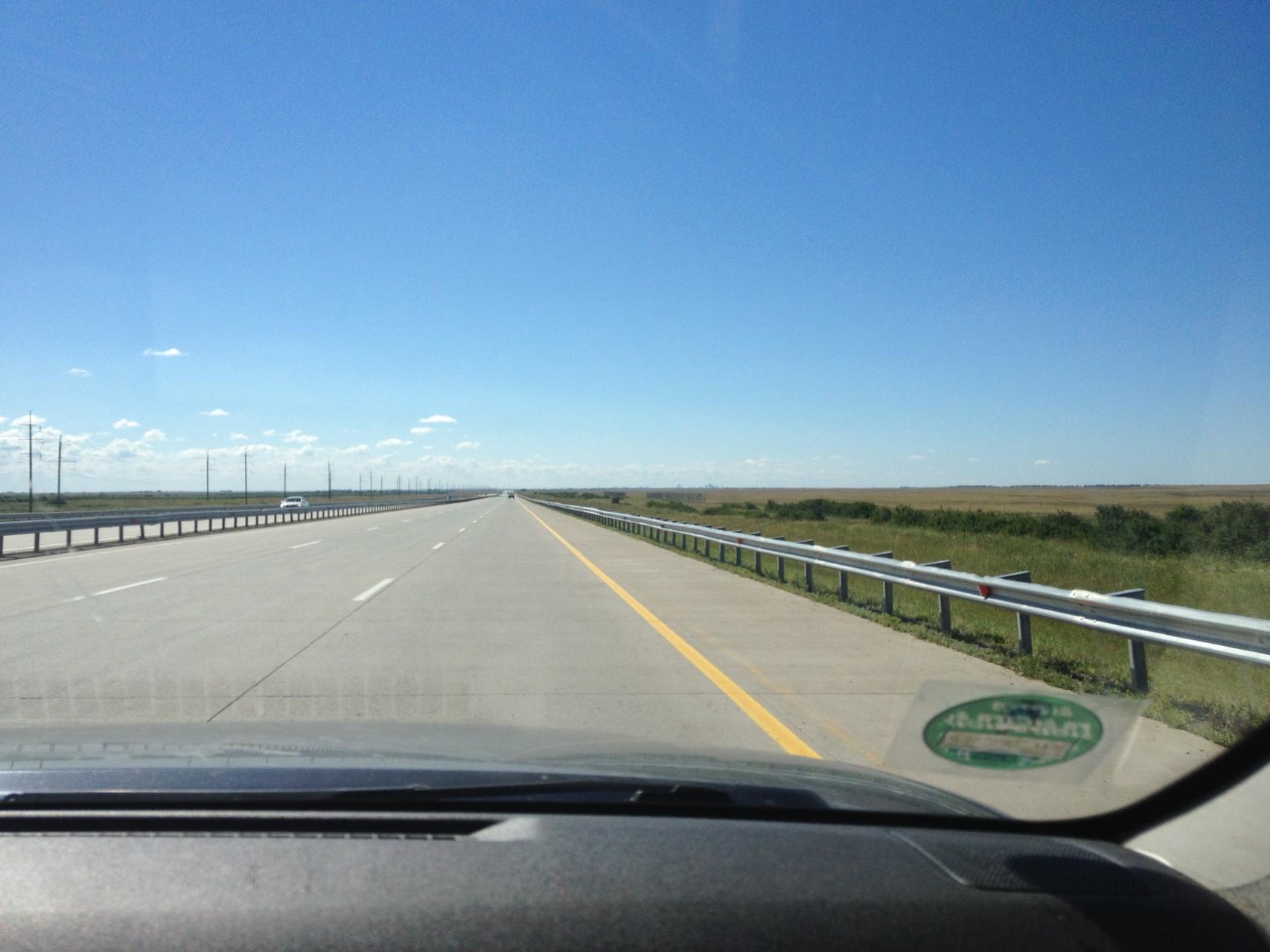 Autobahn vor Astana
