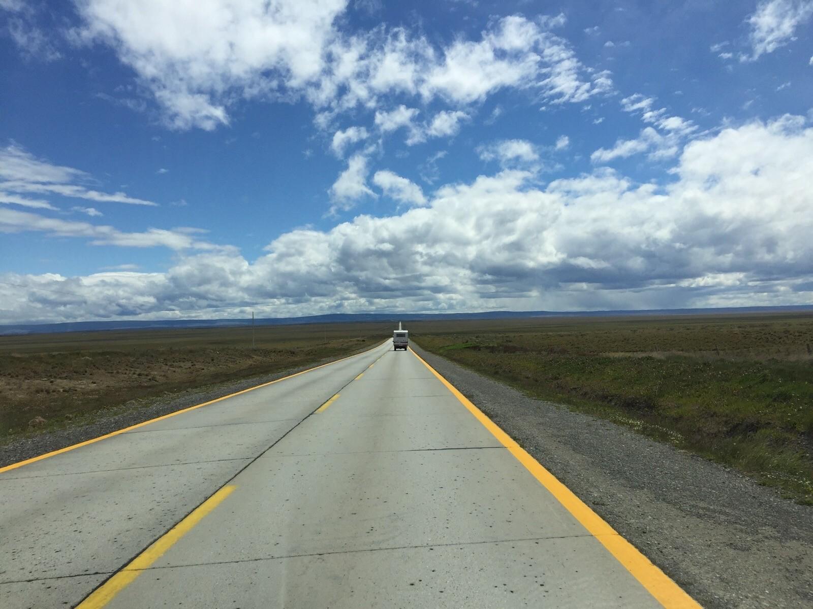 Durch die Pampa Richtung Puerto Natale