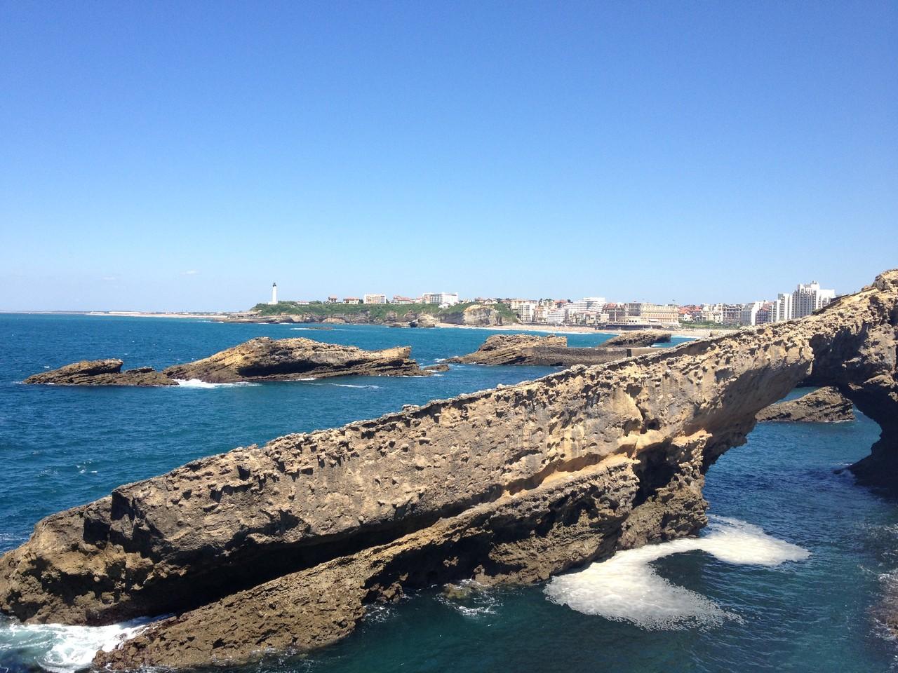 Küstenabschnitt in Biarritz