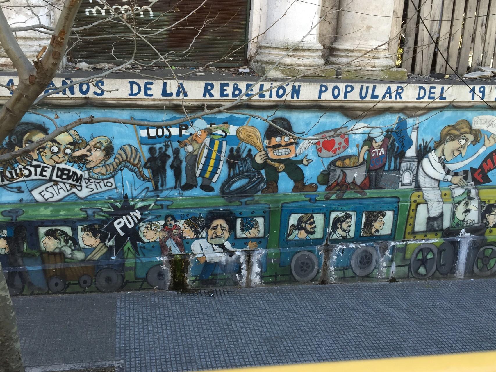Viele schöne Wandmalereien