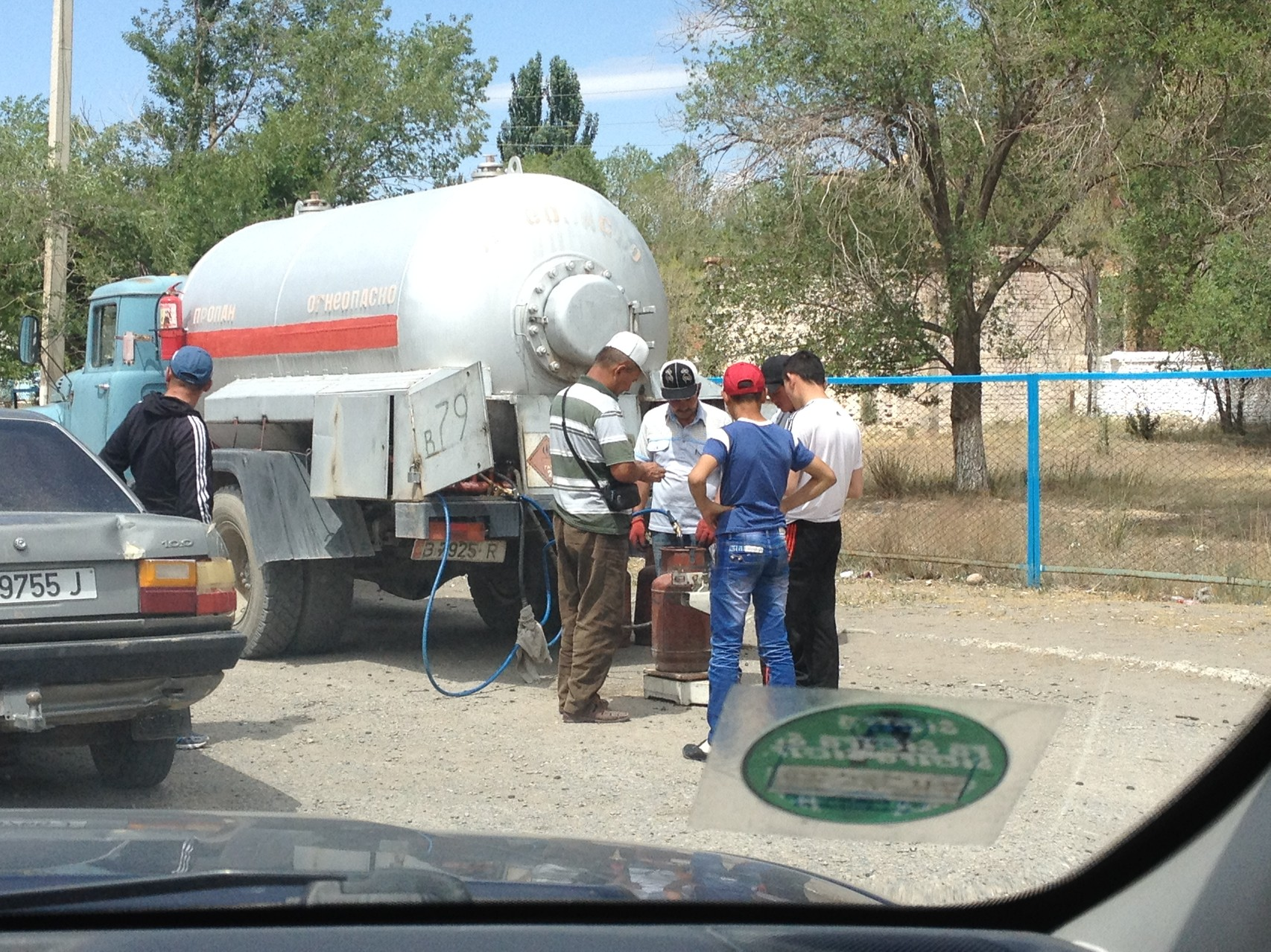 Glasabfällen auf Kirgisisch
