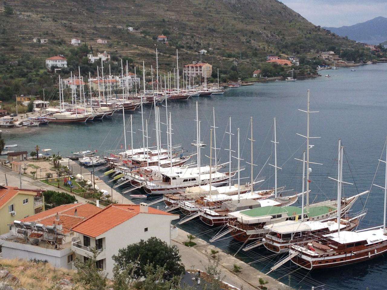 Häfen auf der Halbinsel Datca mit den tollen Segelbooten