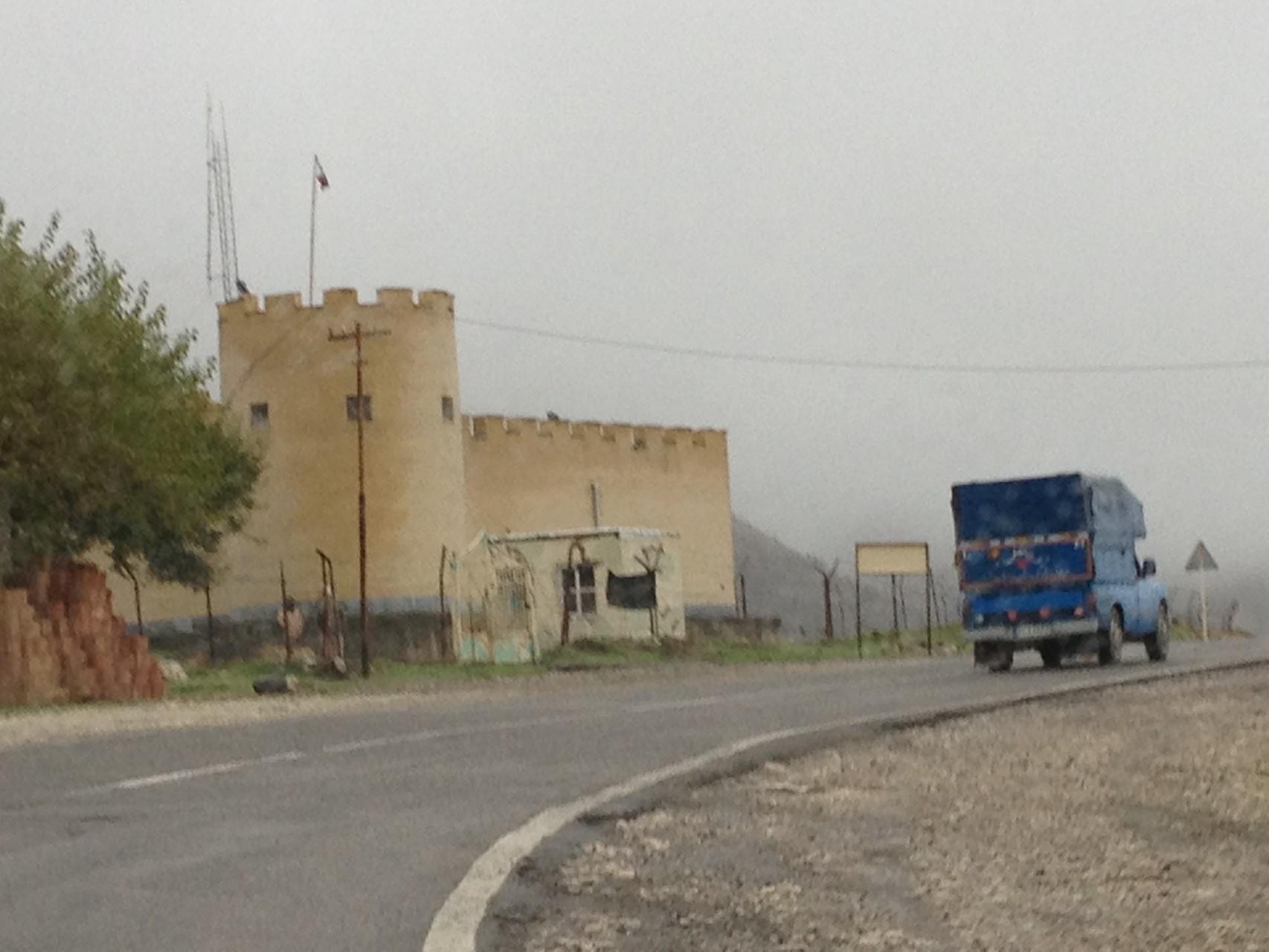 Militärfestung an der Grenze zu Asarbeitschan