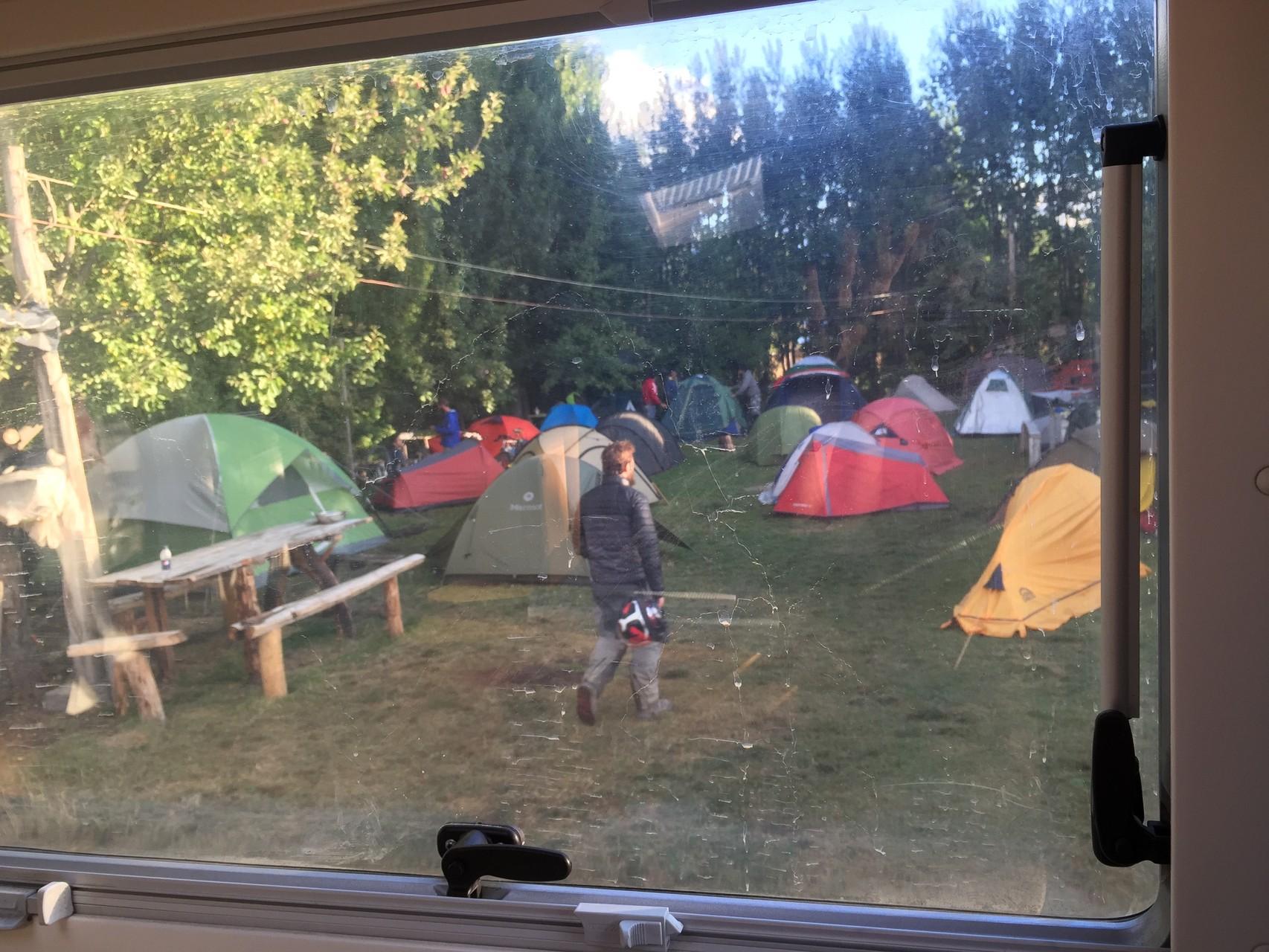 Campingplatz in Cochrane....