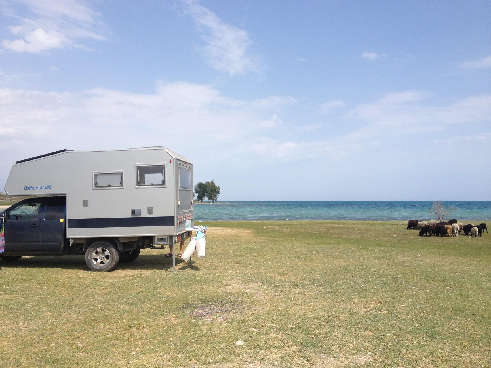 Übernachtungsplatz am See
